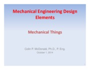 Lecture 9-13 Machines and Mechanisms - Oct 1-15, 2014