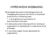 HYPER MEDIA MESSAGING