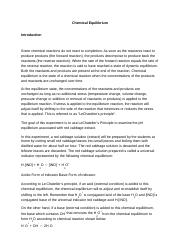 Not an eScience Lab Experiment_ Chemical Equilibrium.docx