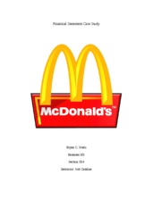 McDonalds Financial Statement Case Study Buiness 101