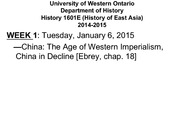 The Age of Western Imperialism,China in decline 2