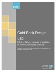 cold pack lab
