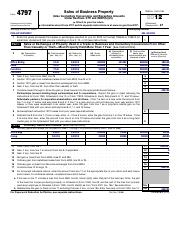 f4797 - Form 4797 Department of the Treasury Internal Revenue ...