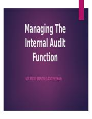 Managing The Internal Audit Function (VIVI ANGGI S.)