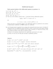 Math 2132 Tutorial 9 and 10