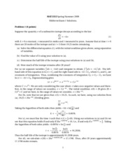 Calculus 2 - Midterm 1 Solutions