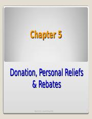 Chapter 5 Donation Relief Rebate A162.ppt