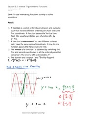 Section 6.5 Inverse Trigonometric Functions