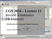 Lecture 11 - IK and FK Controls