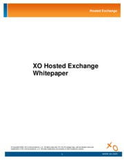 XO Hosted Exchange White Paper