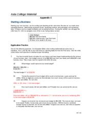 MAT116- Week 2 Assignment- Expressions and Equations (Appendix C)