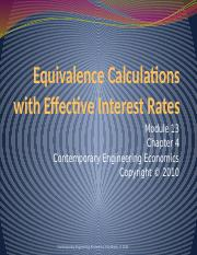 Module 13_Equivalence Analysis using Effective Interest Rates.pptx