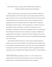 Religion 140_Lectures Notes on Canonicity, Creativity, and the Unlimited Vision of Literature or The