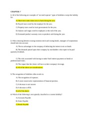 Accounting What the Numbers Mean 5 e Chapter 7
