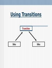 Using Transitions2