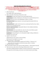 Psych 101 Exam One Study GuidePT1 Ch 1-3.docx