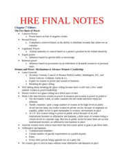 HRE 4723 FINAL NOTES