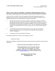 2011 Article IV Consultation