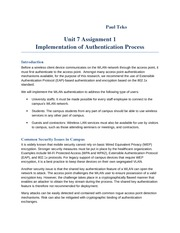 Unit 7 Assignment 1  Implementation of Authentication Process