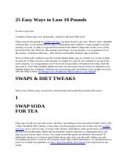 25 Easy Ways to Lose 10 Pounds.docx