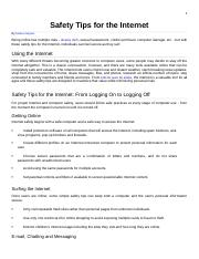 Article on Safety Tips for the Internet (3).docx
