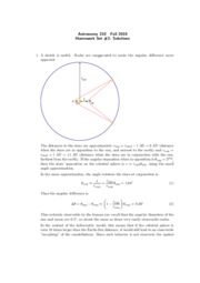 Astro 210 Homework 2 Solutions