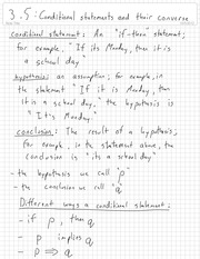 Condition Statements and its Opposite Notes