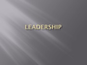 PPt 11  Leadership (1)