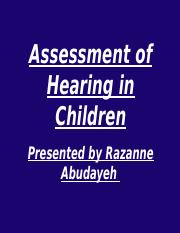 Assessment of hearing in children-RAZANNE.ppt