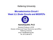 week 5.3 Diode Circuit and MOSFET
