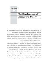 ch 1 the dev. of acc theory