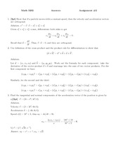 MATH 3202 Spring 2013 Assignment 2 Solutions