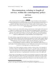 Lambert - Discrimination Relating to Length of Service in the Police Service.pdf
