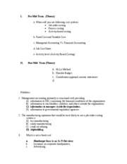 Econ 139 - Final Review Material Answers