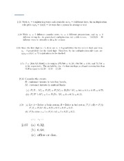 Probablity and Statistics Chp2 Solutions