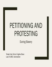 03 Petitioning in Slavery