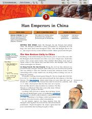 7.3-Han Emperors in China