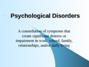 Psychological Disorders 1