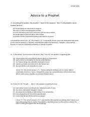 Advice to a prophet questions.docx