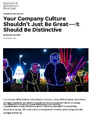 Your Company Culture Shouldn't Just Be Great—It Should Be Distinctive