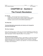 Unit3Chapter12Section2TheFrenchRevolution