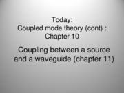 Coupled mode theory_cont with notes
