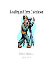 Course05-Leveling and error calculation-jack.ppt