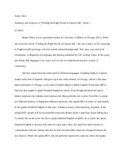 summary response of finding the right words to express me draft 1.docx