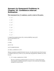 Chapter 10 HW Answers