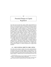 Chapter 11 Potential Changes in Capital Regulation