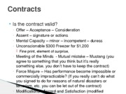 490R Contracts Notes