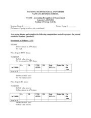 AC2101 S1 20132014 Seminar 13 Group Activity Forms (Students)