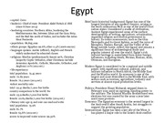 Egypt Country Project Powerpoint