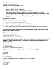 Americas The 13 Colonies Unit 1 Summative 2003 Word Document